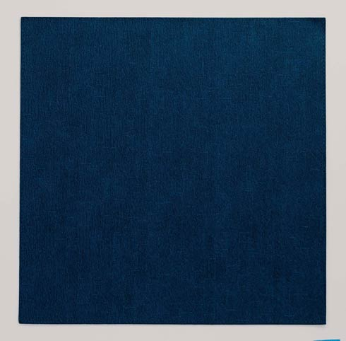 """$86.00 Navy 15"""" Square Mat - Pack of 4"""