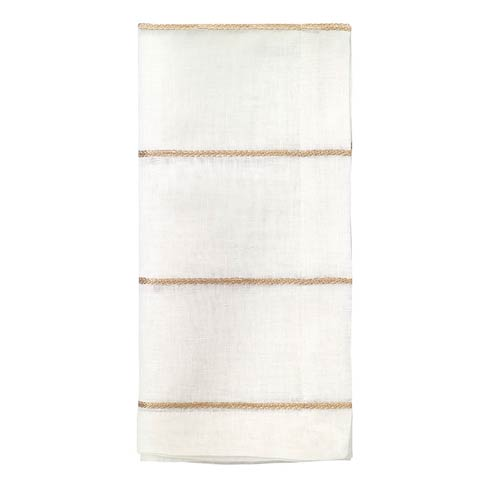 "Bodrum  Metallic Thread Gold 22"" Napkin - Pack of 4 $72.00"