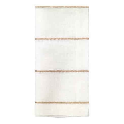 "Bodrum  Metallic Thread Gold 22"" Napkin - Pack of 4 $72.00"
