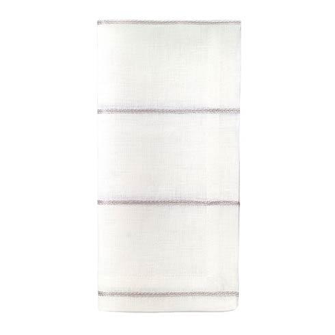 "Bodrum  Metallic Thread Silver 22"" Napkin - Pack of 4 $72.00"
