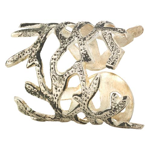 Bodrum  Coral Silver Napkin Ring p of 4 $45.00