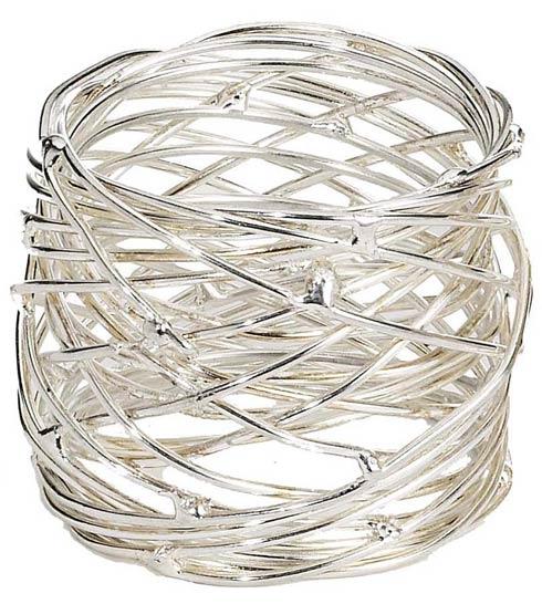 Bodrum  Tara Nickel Napkin Ring - Pack of 4 $41.00