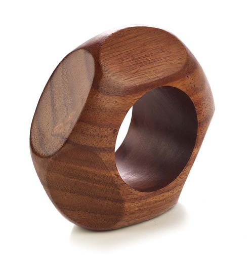 Bodrum  Alexis Teak N. Ring - Pack of 4 $36.00