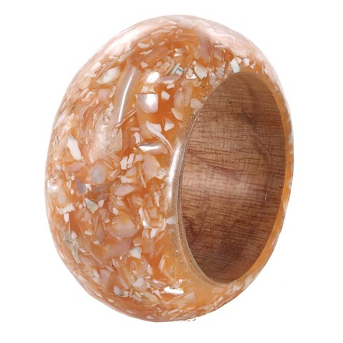 $49.99 Apricot Shell Napkin Ring Pack of 4
