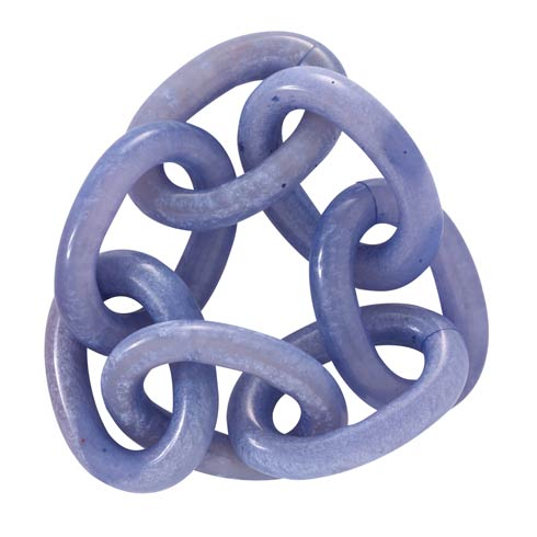 Bodrum  Chain Link Periwinkle Napkin Ring Pack of 4 $50.00