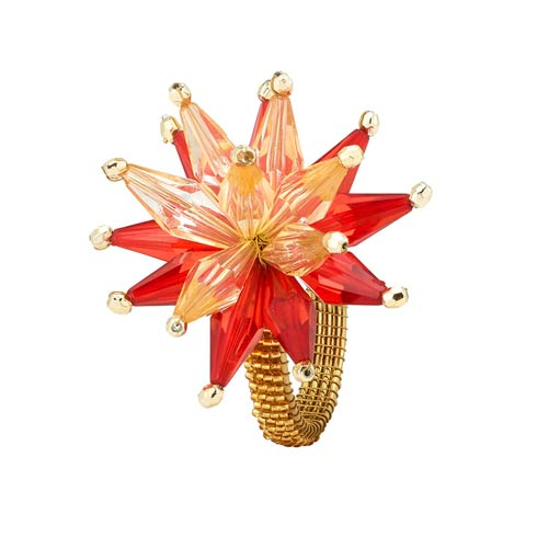 $54.00 Red Gold Napkin Ring - Pack of 4