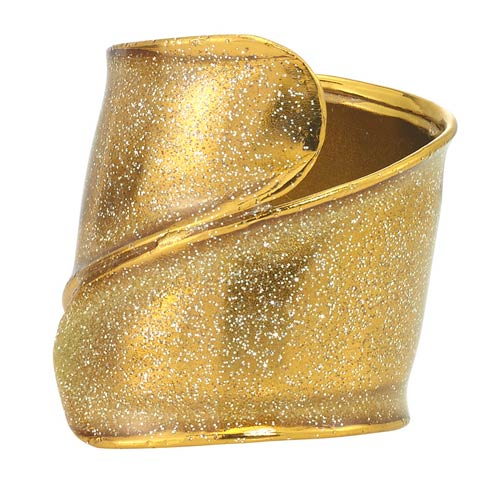 Bodrum  Coil Gold Napkin Ring - Pack of 4 $45.00