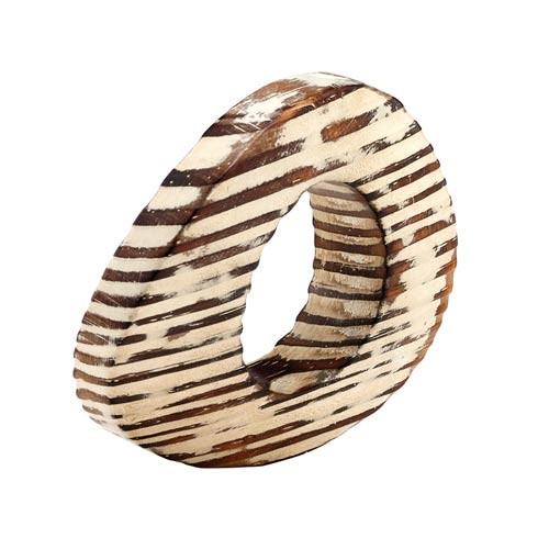 Bodrum  Oval Eye Beige Napkin Ring - Pack of 4 $32.00