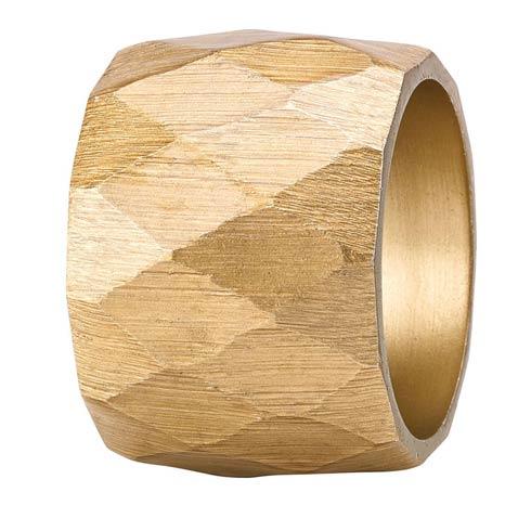 Bodrum  Harlequin Gold Napkin Ring - Pack of 4 $50.00