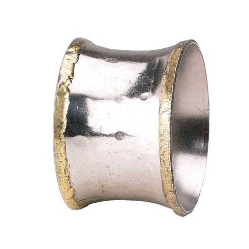 Bodrum  Concave Metallic Napkin Ring - Pack of 4 $45.00
