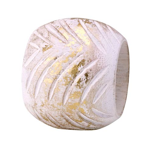 $35.99 White/Gold Napkin Ring - Pack of 4