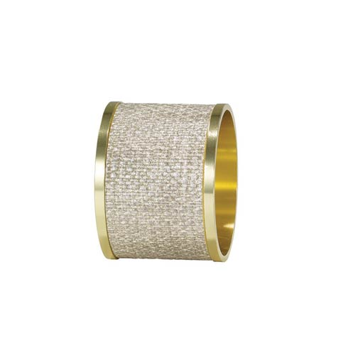 Bodrum  Luster Napkin Rings Birch/Gold Napkin Ring - Pack of 4 $68.00
