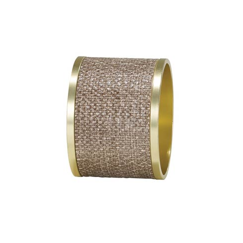 $68.00 Sand/Gold Napkin Ring - Pack of 4