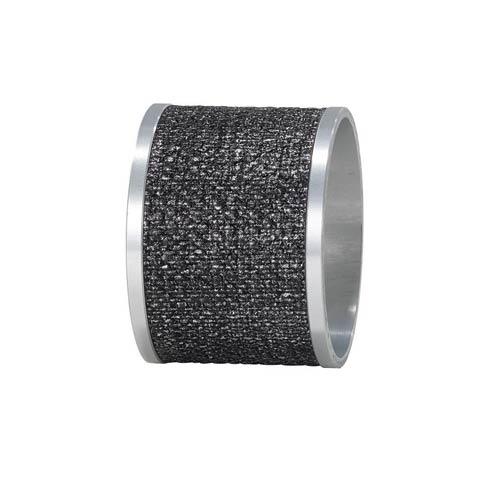 Bodrum  Luster Napkin Rings Smoke/Silver Napkin Ring - Pack of 4 $68.00