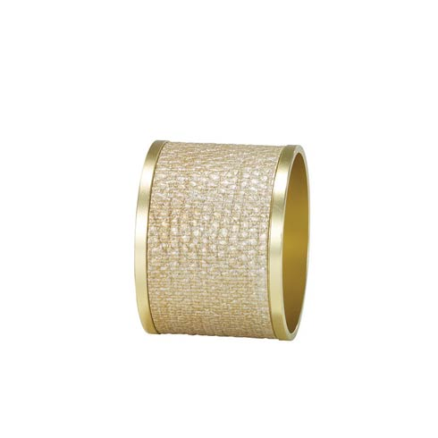 Bodrum  Luster Napkin Rings Gold/Gold Napkin Ring - Pack of 4 $68.00