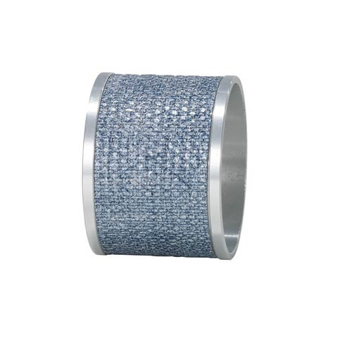 $68.00 Ice Blue/Silver Napkin Ring - Pack of 4