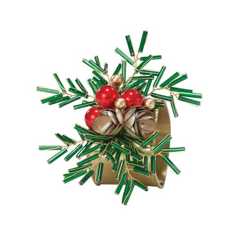 Bodrum  Christmas Burst Napkin Ring - Pack of 4 $68.00