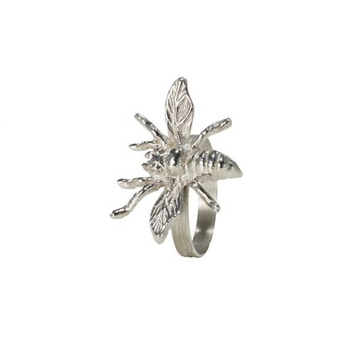 Bodrum  Bee Silver Napkin Ring - Pack of 4 $45.00