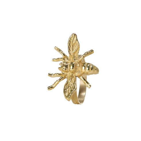 Bodrum  Bee Gold Napkin Ring - Pack of 4 $45.00