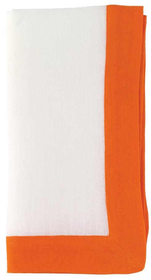 """Bodrum  Orta White/Tangerine 22"""" Napkin - Pack of 6 $49.99"""