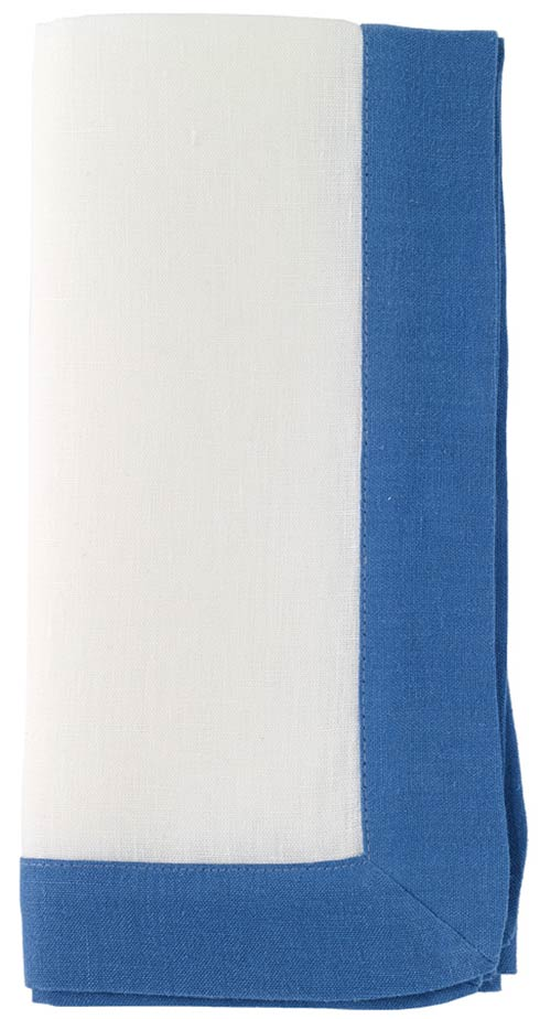 """Bodrum  Orta White/Periwinkle 22"""" Napkin - Pack of 6 $97.99"""