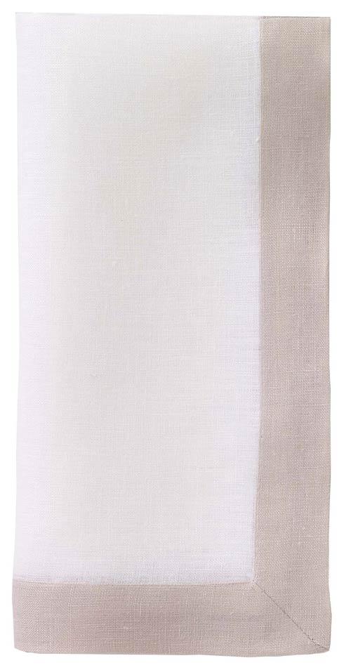"Bodrum  Orta White/Tan 22"" Napkin - Pack of 4 $90.00"