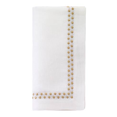 "Bodrum  Pearls Gold  21"" Napkin - Pack of 4 $117.00"