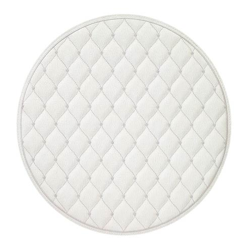 """$114.99 Antique White/Silver 15"""" Rd Mat - Pack of 4"""