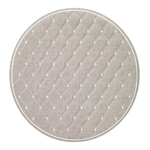 """$144.00 Oatmeal/White 15"""" Rd Mat - Pack of 4"""