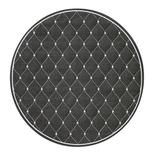 """$114.99 Charcoal/White 15"""" Rd Mat - Pack of 4"""
