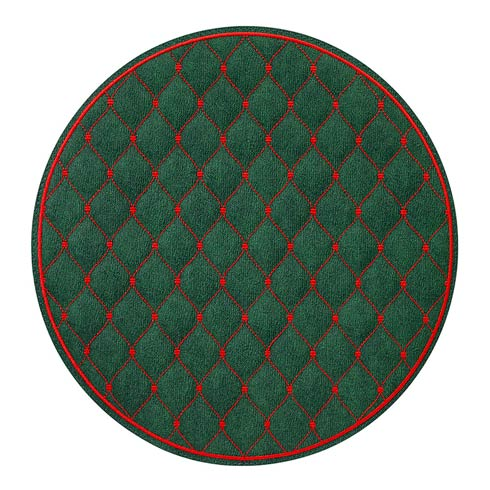 """$144.00 Forest/Red 15"""" Rd Mat - Pack of 4"""