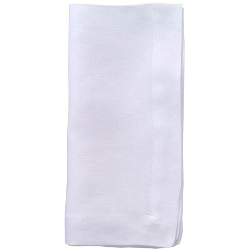 "Bodrum  Riviera Pure White 22"" Napkin - Pack of 4 $81.00"
