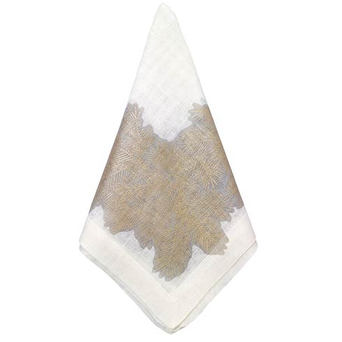 "Bodrum  Spruce Antique Gold 22"" Napkin - Pack of 4 $90.00"