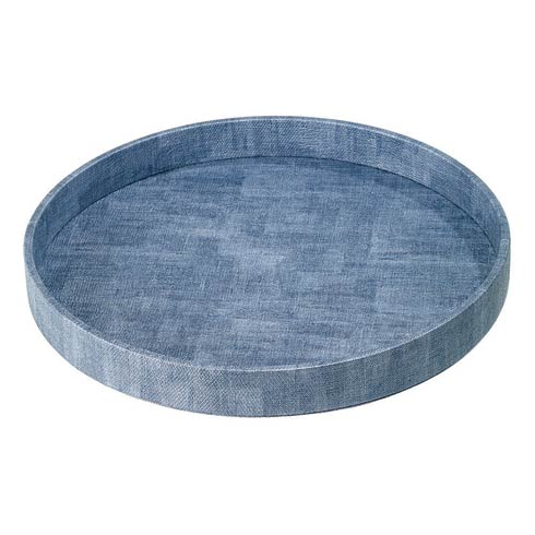 Bodrum  Luster Trays Ice Blue Round Tray $124.00