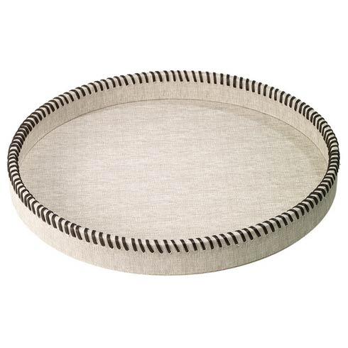 $180.00 Beige Round Tray