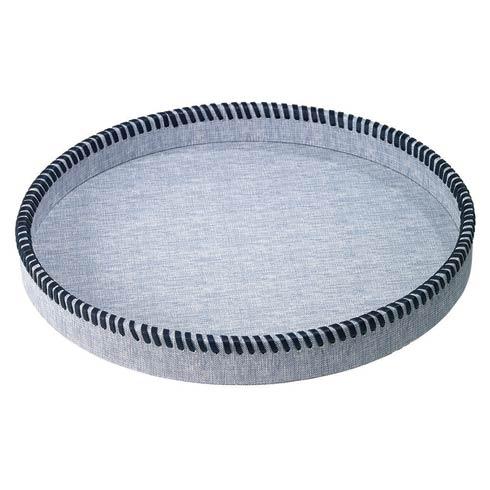Bodrum  Whipstitch Trays Bluebell Round Tray $191.00