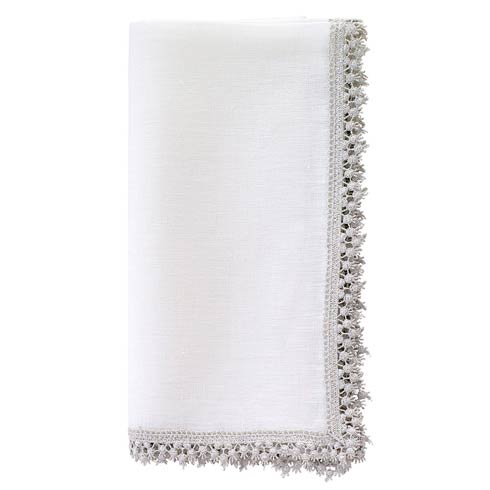 "Bodrum  Victoria Silver 22"" Napkin - Pack of 4 $95.00"