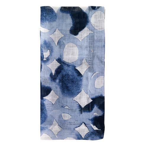 "Bodrum  Watermark Blue 22"" Napkin - Pack of 4 $72.00"