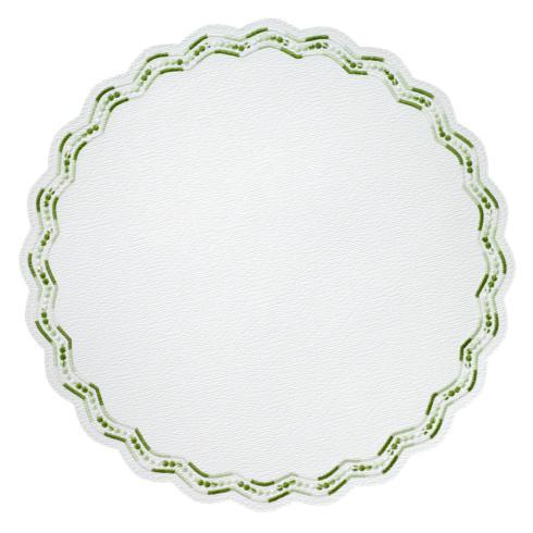 """$153.00 Belgravia Green 15"""" Round Mat"""