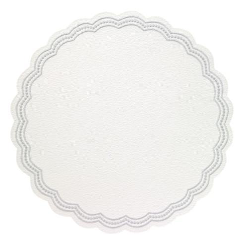 """$153.00 Silver 15"""" Round Mat"""