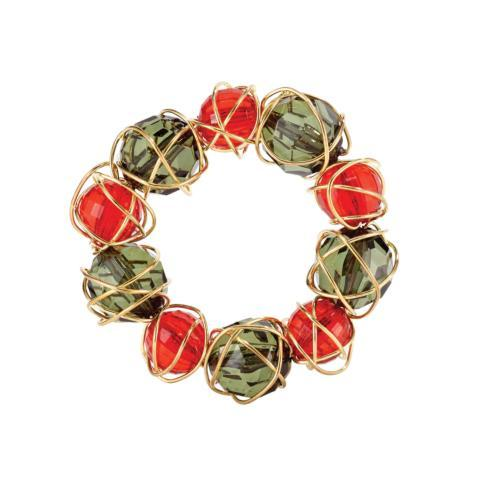 $50.00 Red & Green Napkin Ring Pack of 4