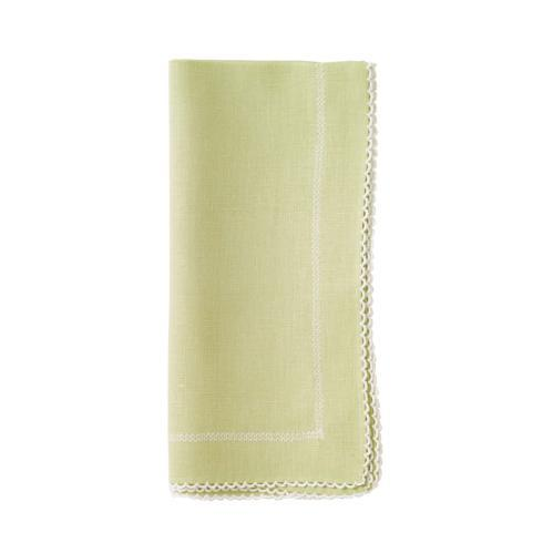 "Bodrum  Picot Willow/White 22"" Napkin - Pack of 4"