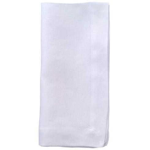"$122.00 Pure White 22"" Napkins - Pack of 6"