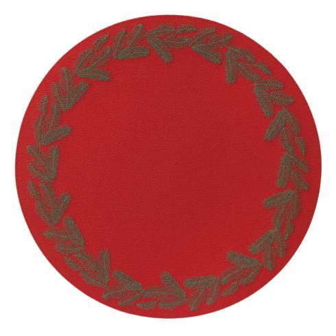 $144.00 Red Evergreen Mat p/4
