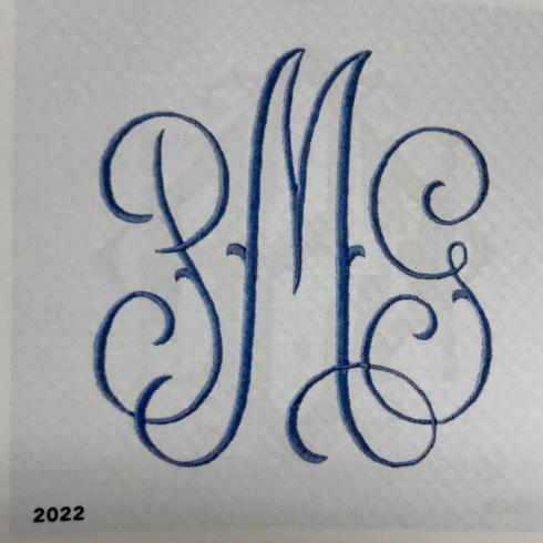 "Matouk  Monogram 2022 Embroidery 2"" & 3"" $39.00"