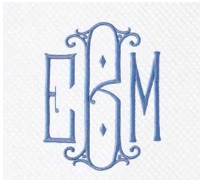 Monogram 2064 Embroidery Bath collection with 4 products