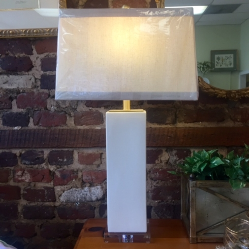 The Boutique Exclusives   Ivory Ceramic Lamp $350.00