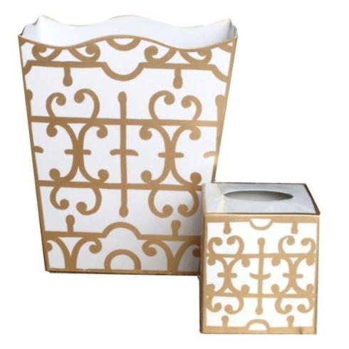 Dana Gibson Gold Klimt Waste Can collection with 1 products