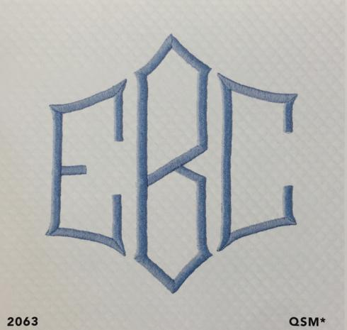 Matouk  Embroidery Mono 2063 3.5' $21.00