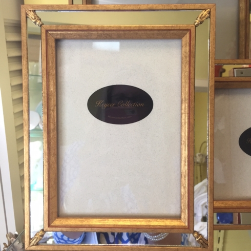 The Boutique Exclusives  Picture Frames Keyser 4 x 6 mirror frame $52.00